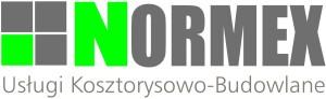 "Logo Usługi Kosztorysowo-Budowlane ""NORMEX"" Bartosz Molek"